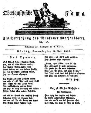 Oberlausitzische Fama vom 14.07.1825