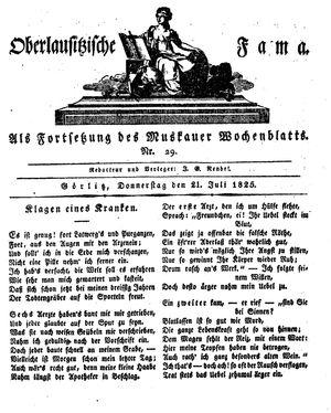 Oberlausitzische Fama vom 21.07.1825