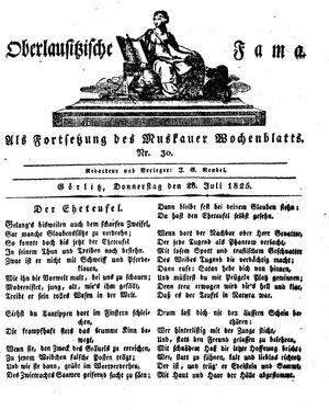 Oberlausitzische Fama vom 28.07.1825