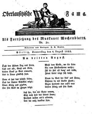 Oberlausitzische Fama vom 04.08.1825