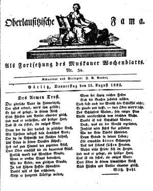 Oberlausitzische Fama vom 11.08.1825