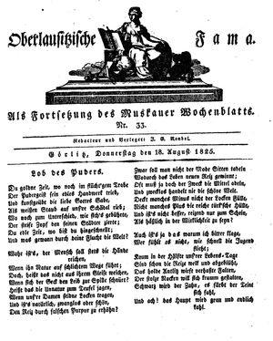 Oberlausitzische Fama vom 18.08.1825