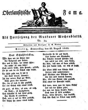 Oberlausitzische Fama vom 25.08.1825