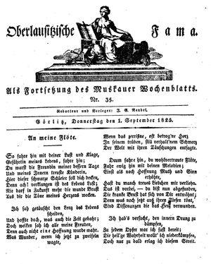 Oberlausitzische Fama vom 01.09.1825