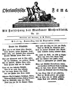 Oberlausitzische Fama vom 15.09.1825