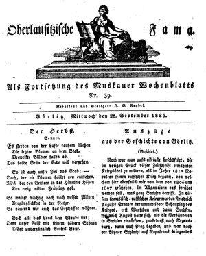 Oberlausitzische Fama vom 28.09.1825