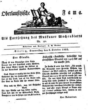 Oberlausitzische Fama vom 06.10.1825
