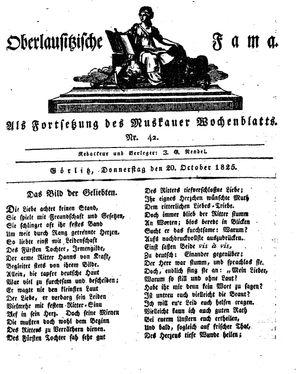 Oberlausitzische Fama vom 20.10.1825