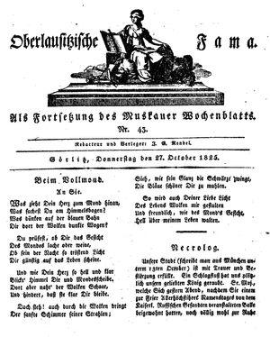 Oberlausitzische Fama vom 27.10.1825