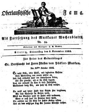 Oberlausitzische Fama vom 03.11.1825