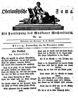 Oberlausitzische Fama vom 10.11.1825