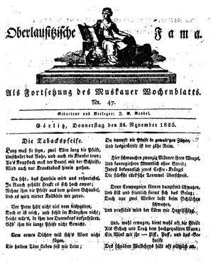 Oberlausitzische Fama vom 24.11.1825