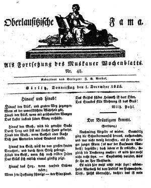 Oberlausitzische Fama vom 01.12.1825