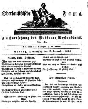 Oberlausitzische Fama vom 15.12.1825