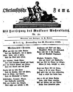 Oberlausitzische Fama vom 22.12.1825