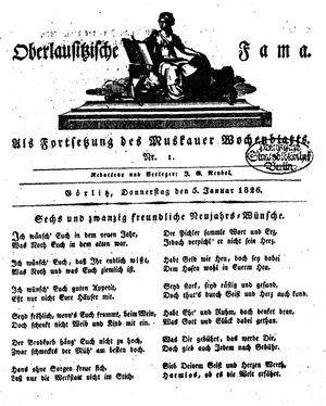 Oberlausitzische Fama on Jan 5, 1826