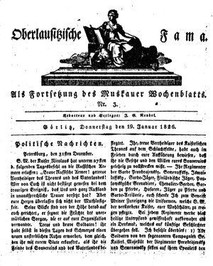 Oberlausitzische Fama vom 19.01.1826