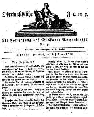 Oberlausitzische Fama vom 01.02.1826