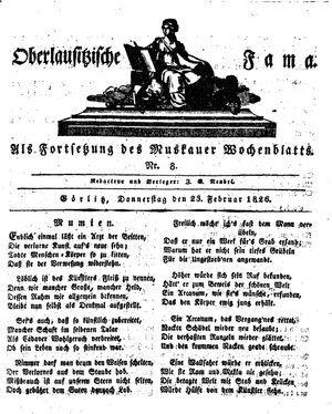 Oberlausitzische Fama vom 23.02.1826