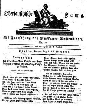 Oberlausitzische Fama vom 02.03.1826