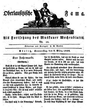 Oberlausitzische Fama vom 09.03.1826