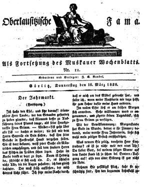 Oberlausitzische Fama vom 16.03.1826