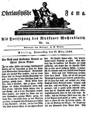 Oberlausitzische Fama vom 30.03.1826