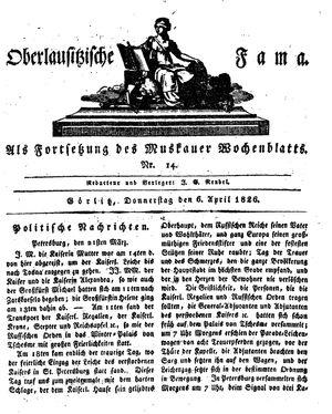 Oberlausitzische Fama vom 06.04.1826