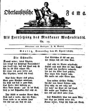 Oberlausitzische Fama vom 27.04.1826