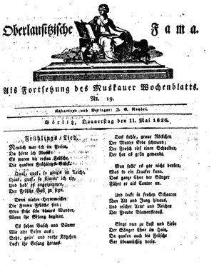 Oberlausitzische Fama on May 11, 1826