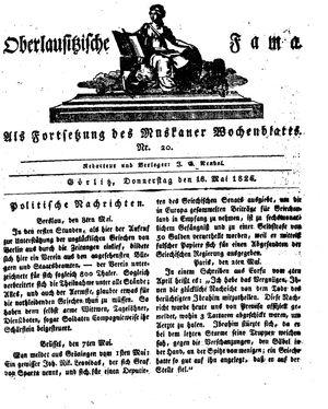 Oberlausitzische Fama vom 18.05.1826
