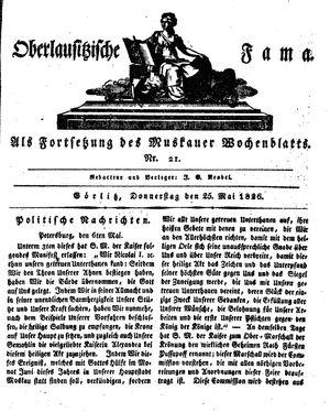 Oberlausitzische Fama vom 25.05.1826