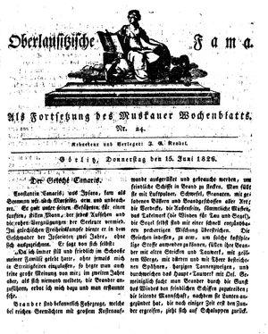 Oberlausitzische Fama vom 15.06.1826
