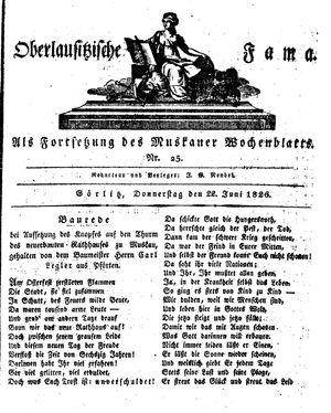 Oberlausitzische Fama vom 22.06.1826