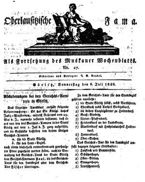Oberlausitzische Fama on Jul 6, 1826