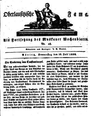 Oberlausitzische Fama vom 13.07.1826