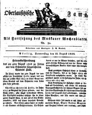Oberlausitzische Fama vom 10.08.1826
