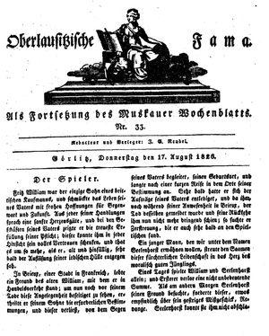 Oberlausitzische Fama vom 17.08.1826