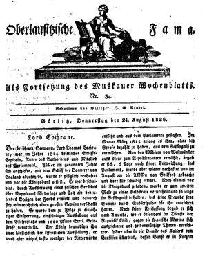 Oberlausitzische Fama vom 24.08.1826