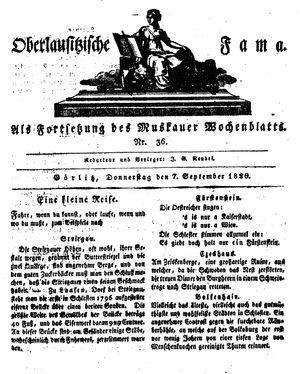 Oberlausitzische Fama on Sep 7, 1826