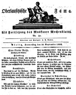 Oberlausitzische Fama vom 14.09.1826