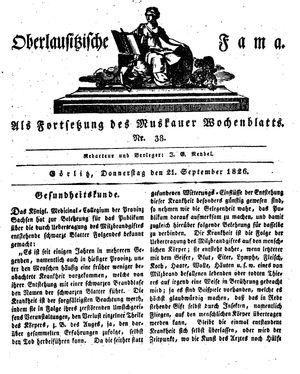 Oberlausitzische Fama vom 21.09.1826