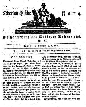 Oberlausitzische Fama vom 28.09.1826