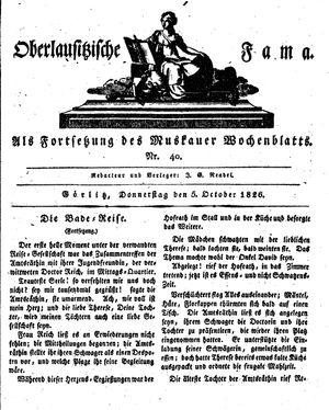 Oberlausitzische Fama vom 05.10.1826