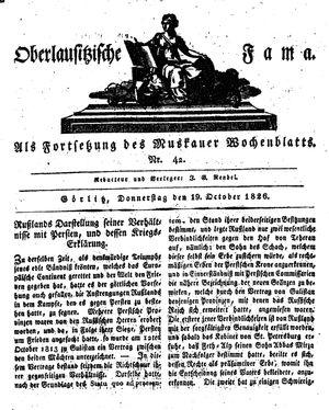Oberlausitzische Fama vom 19.10.1826