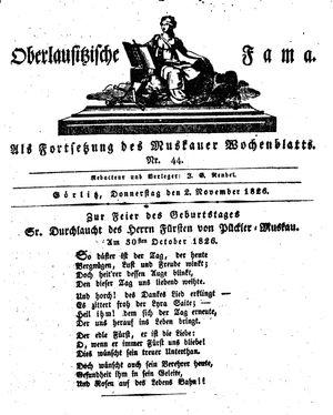 Oberlausitzische Fama vom 02.11.1826