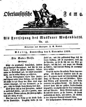 Oberlausitzische Fama on Nov 9, 1826