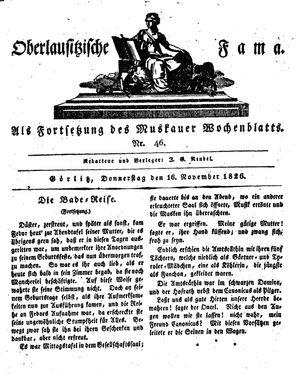 Oberlausitzische Fama vom 16.11.1826