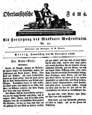 Oberlausitzische Fama vom 23.11.1826