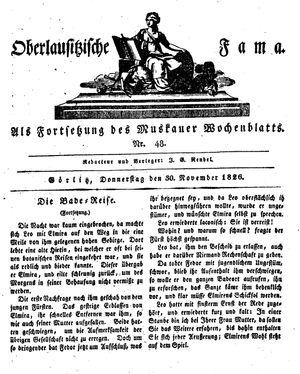 Oberlausitzische Fama vom 30.11.1826